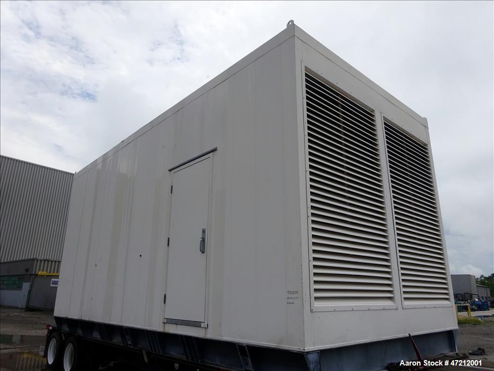 Used- Cummins 1500 kW diesel generator, 1500DFLE. Cummins KTA50-G9 engine