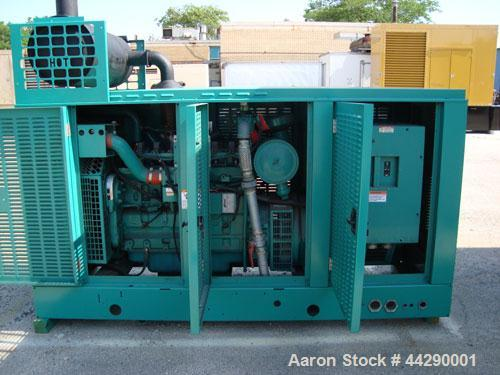 Used- Cummins 150 kW Standby (135 kW (Prime) Natural Gas Generator Set, Model 150GGKD, SN-J980810411. Cummins GTA8.3 natural...