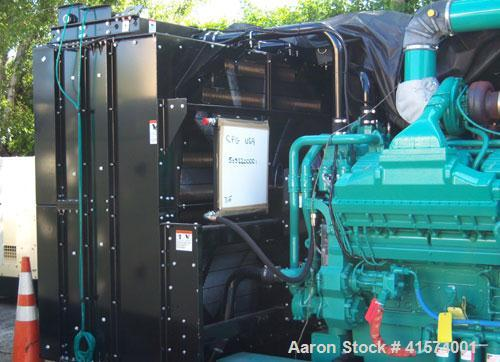 Unused Cummins 2000 kW standby diesel denerator set. Cummins model 2000DQKC, Cummins QSK60-G6 engine. 3/60/277/480V. Paralle...