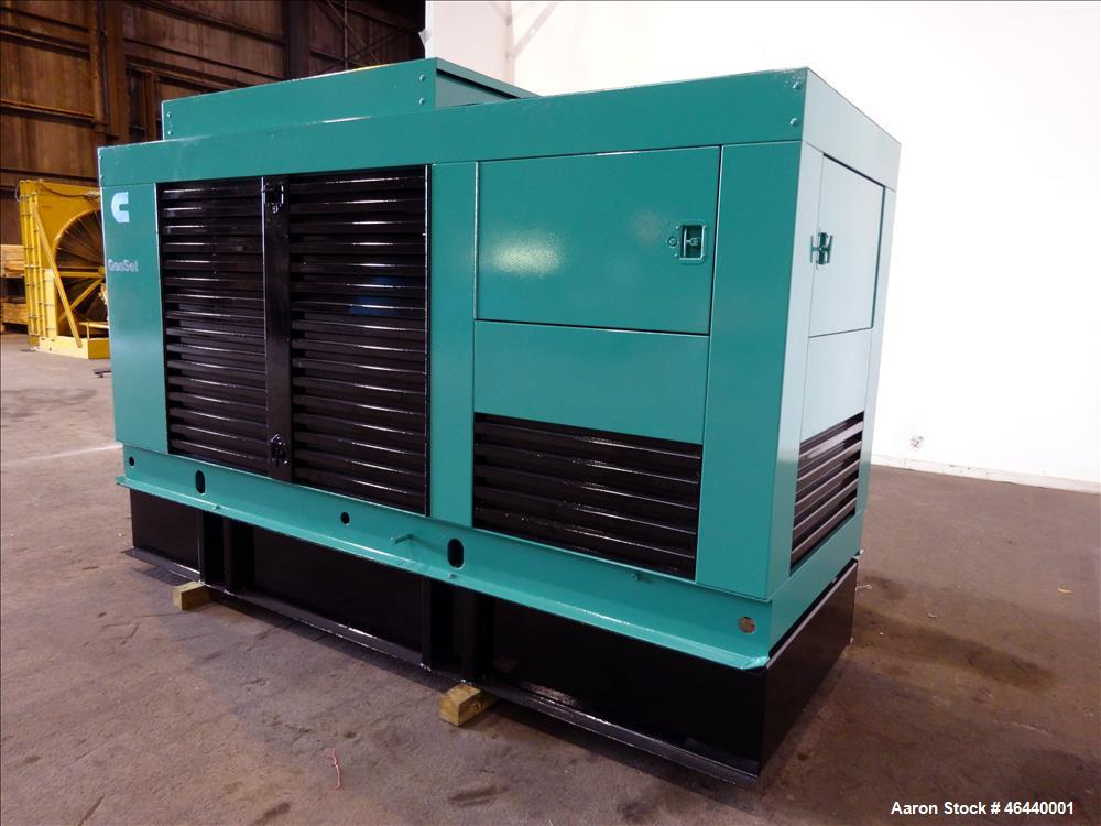 Used- Cummins 200 kW standby diesel generator set, model 200 DFAA, SN-B950570226