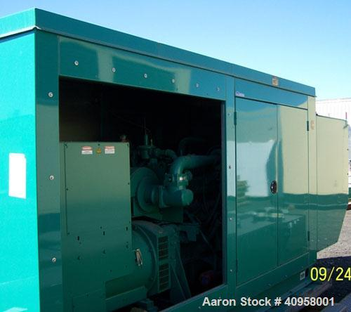 Unused-New Cummins 280 kW Natural Gas Fuel Generator Set, Model 280GFGA. 3/60/277-480V, 1800 rpm. Cummins model GTA14-GS2 ri...