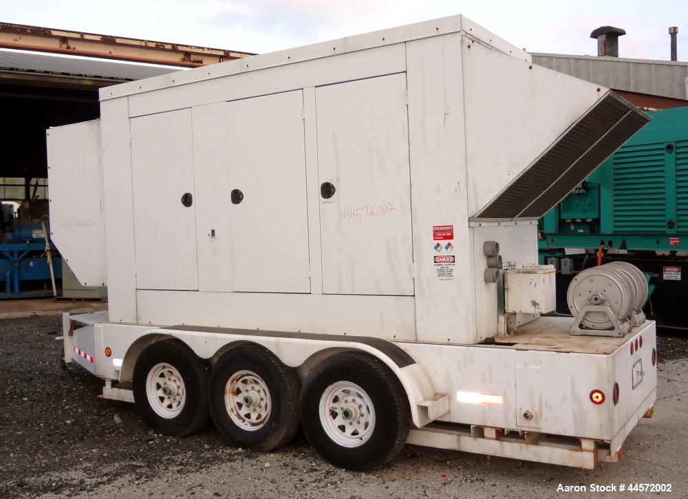 Used- Cummins 300 kW standby (270 prime) portable / trailered diesel generator set, Model 300DQAF-2054, SN- F010246210. Cumm...