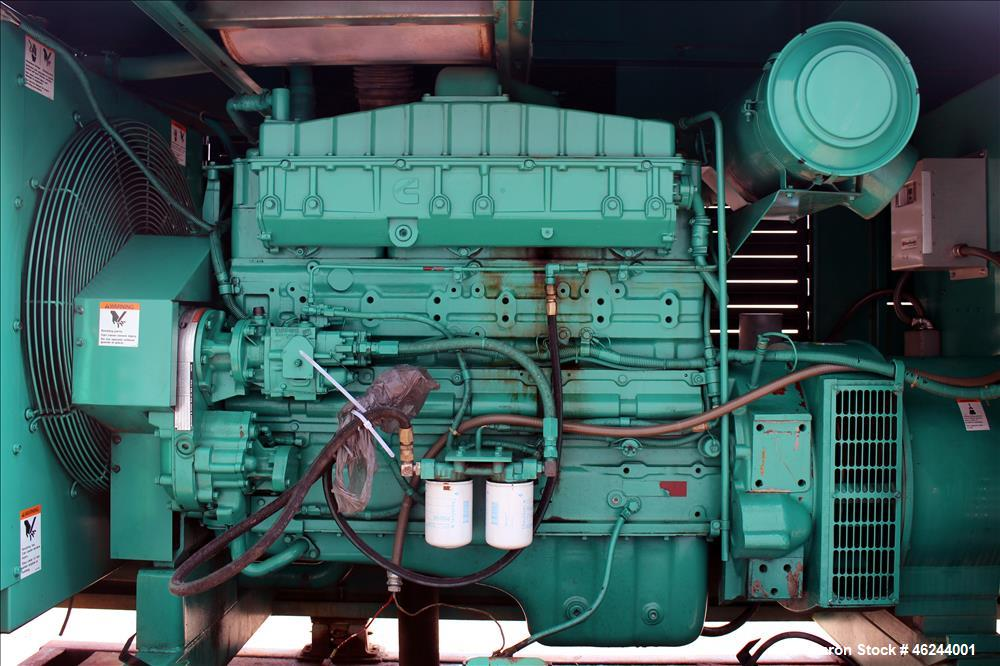 Used-Cummins 350 kW standby (315 kW prime) diesel generator set model 350DFCC, SN-D920464636 Cummins NTA-855-G3 engine rated...