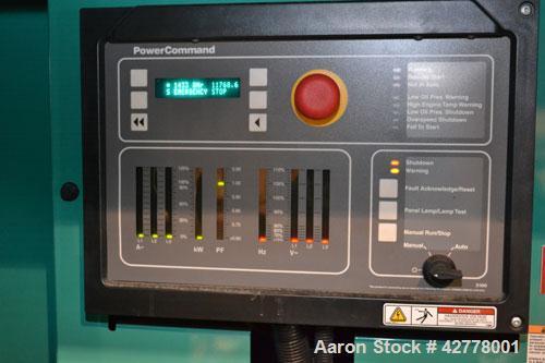 Used- Cummins Onan 500kW Diesel Generator Set, model 500DFEK, serial #1080206597, EPA Tier II, engine model QSX15-G9 serial ...