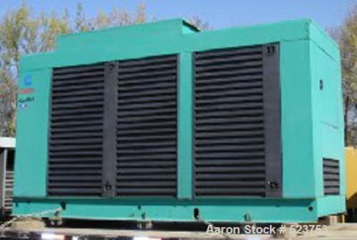 USED: Cummins/Onan 500 kW diesel generator, model 500 DFFB, spec69180K. Standby rated at 500 kW/625 kva, 60 hertz, 1800 rpm,...