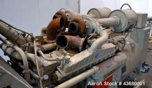 Used- Cummins 600 kW Diesel Generator Set. Cummins model VTA28GS2 engine rated 900 HP @ 1800 RPM SN-37110166. 3/60/277/480V....