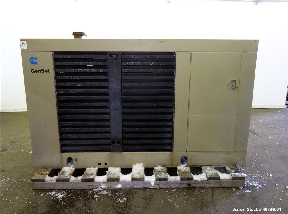 Used- Cummins 125 KW standby diesel generator. Cummins 6CT8.3-GS engine