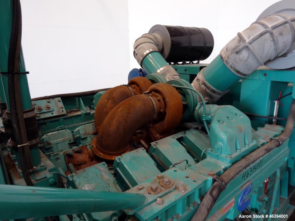 Used- Cummins 750 kW diesel generator, model DFHA. Cummins QST30-G2 engine.