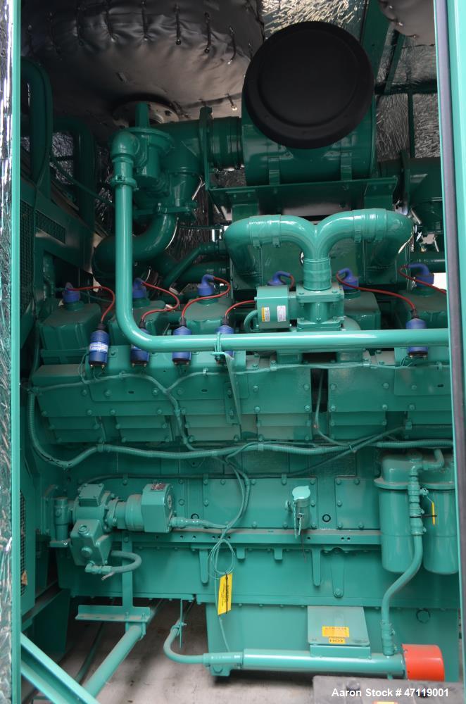 Used- Cummins 750 kW Natural Gas Generator, Model 750GFLC. Cummins GTA50 Engine