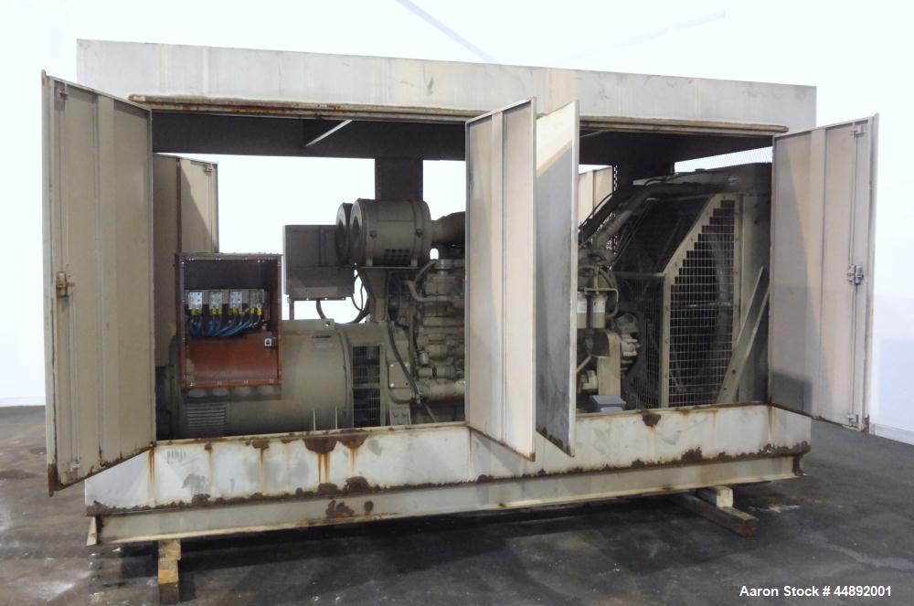 Used- Cummins 600 kW Standby Diesel Generator Set. Cummins model VTA-28GS2-49999 engine rated 900 hp @ 1800 rpm, serial #371...