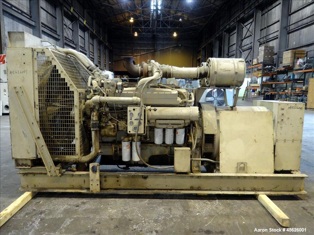 Used- Cummins 500 kW diesel generator. Cummins VTA-1710-GS engine.