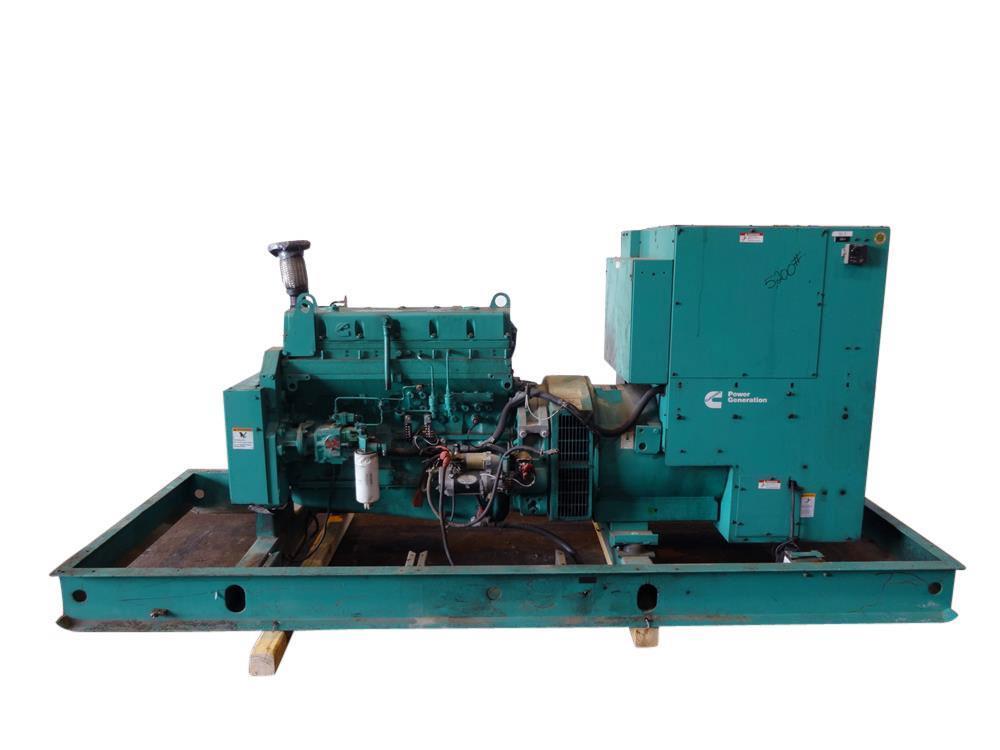 Used- Cummins 230 kW diesel generator. Cummins LTA10-G1 engine
