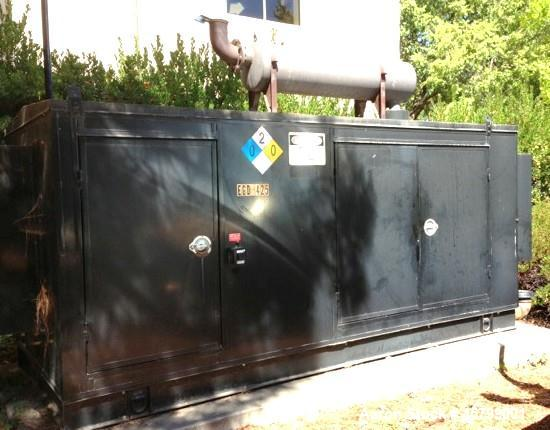 Used- Cummins 250 kW standby (225 kW prime) diesel generator set.