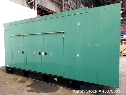 Used- Cummins 250 kW standby (225 kW prime) Diesel Generator Set, model DFAC-5747110, serial #C060895209. Cummins LTA10-G1 e...