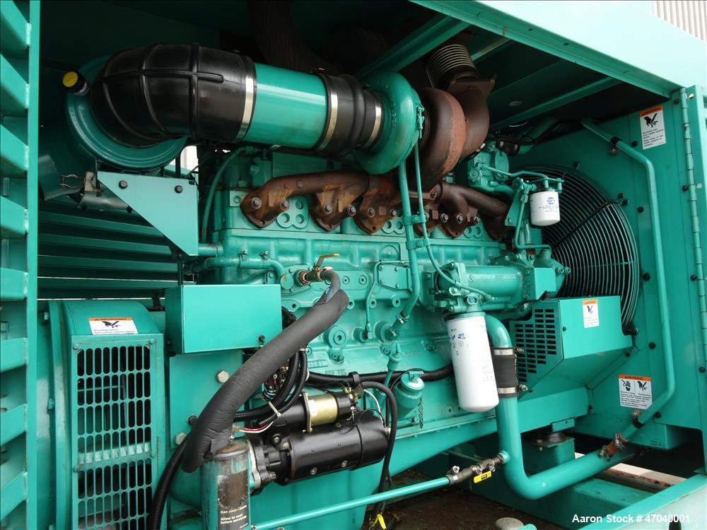 Used- Cummins 350 kW diesel generator set, model DFCC. Cummins NTA855-G3 engine