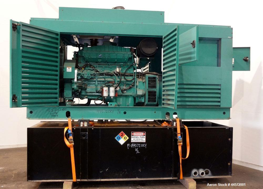 Used- Cummins 350 kW Standby (315 kW Prime) Diesel Generator Set, Model DFCC, SN-D030496246. Cummins NTA855-G3 engine rated ...