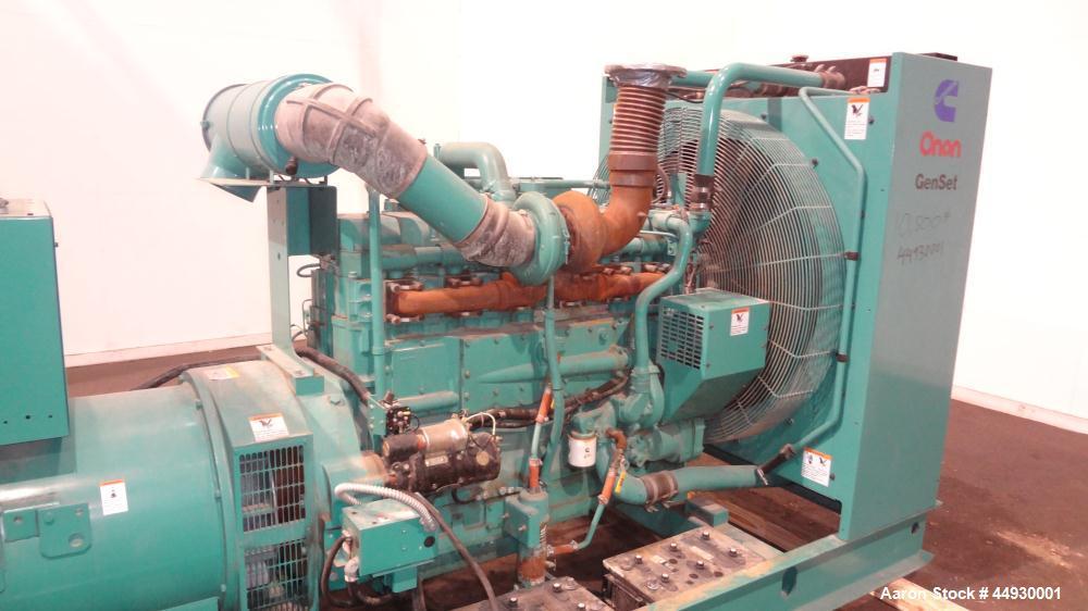 Used- Cummins 500 kW standby (455 kW prime) diesel generator set, model DFED-3381494, SN-K990022657. Cummins KTA19-G4 engine...