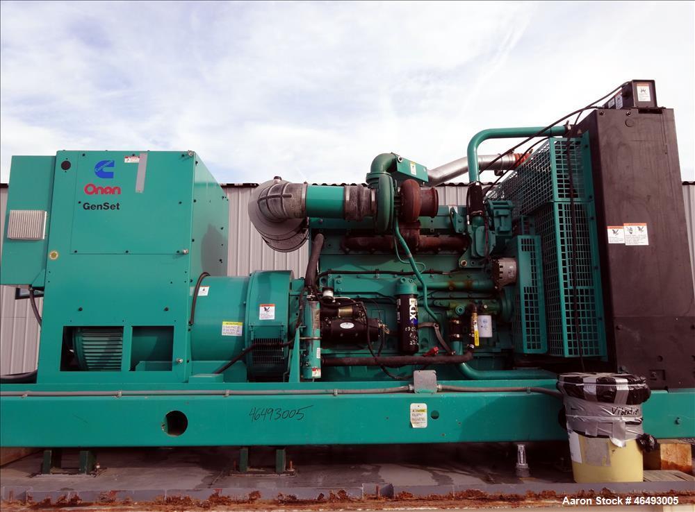 Used- Cummins 500kW diesel generator, model DFEK. Cummins QSX15-G9 engine.