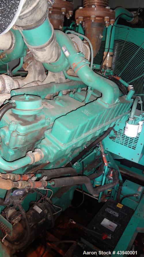 Used- Cummins 600 kW Standby Diesel Generator Set, Model DFGB-3379821