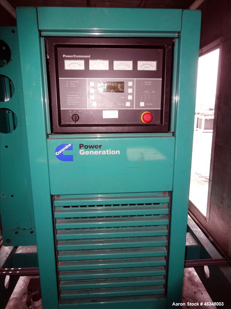 Used-Cummins 600 kW diesel generator, model DFGB. Cummins VTA-28-G5 engine.