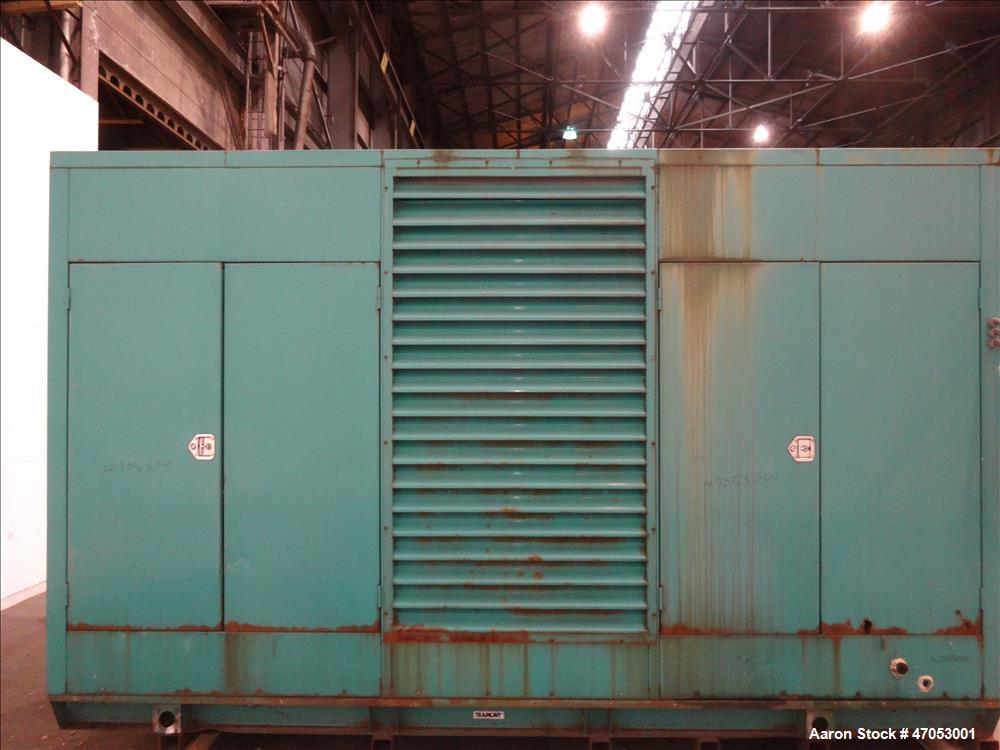 Used- Cummins 600 kW diesel generator set model DFGB. Cummins VTA-28-G5 engine