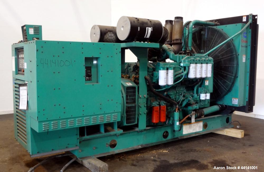 Used- Cummins 750 kW Standby Diesel Generator Set, Cummins Model DFHA-4960791