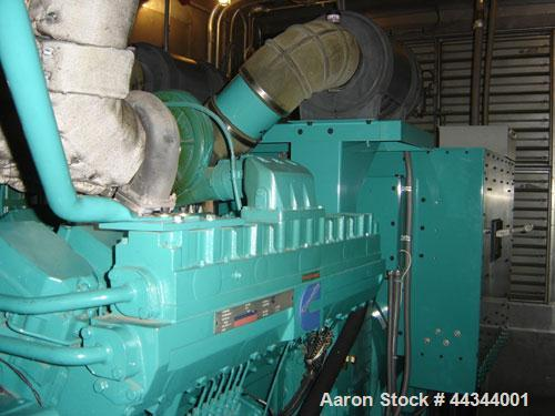 Used-Cummins 900 kW standby diesel generator set, Model DFHC-5502751, SN-F020386092. Cummins QST30-G3 engine. 3/60/277/480V....