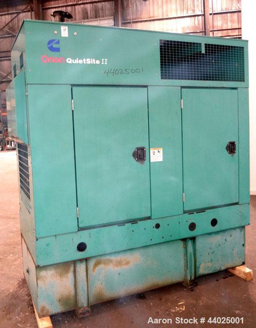Used- Cummins 60kW Standby (55kW Prime) Diesel Generator Set, Quietsite II DGCB-4489082, SN- J000161603. Cummins 4BT3.9 G-4 ...