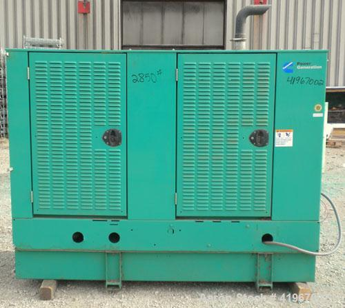 Used- Cummins 60 kW Diesel Generator Set. Cummins set model DGCB-5563780, Serial#-F020386008, Spec # S. Cummins 4BT3.9-G4 en...