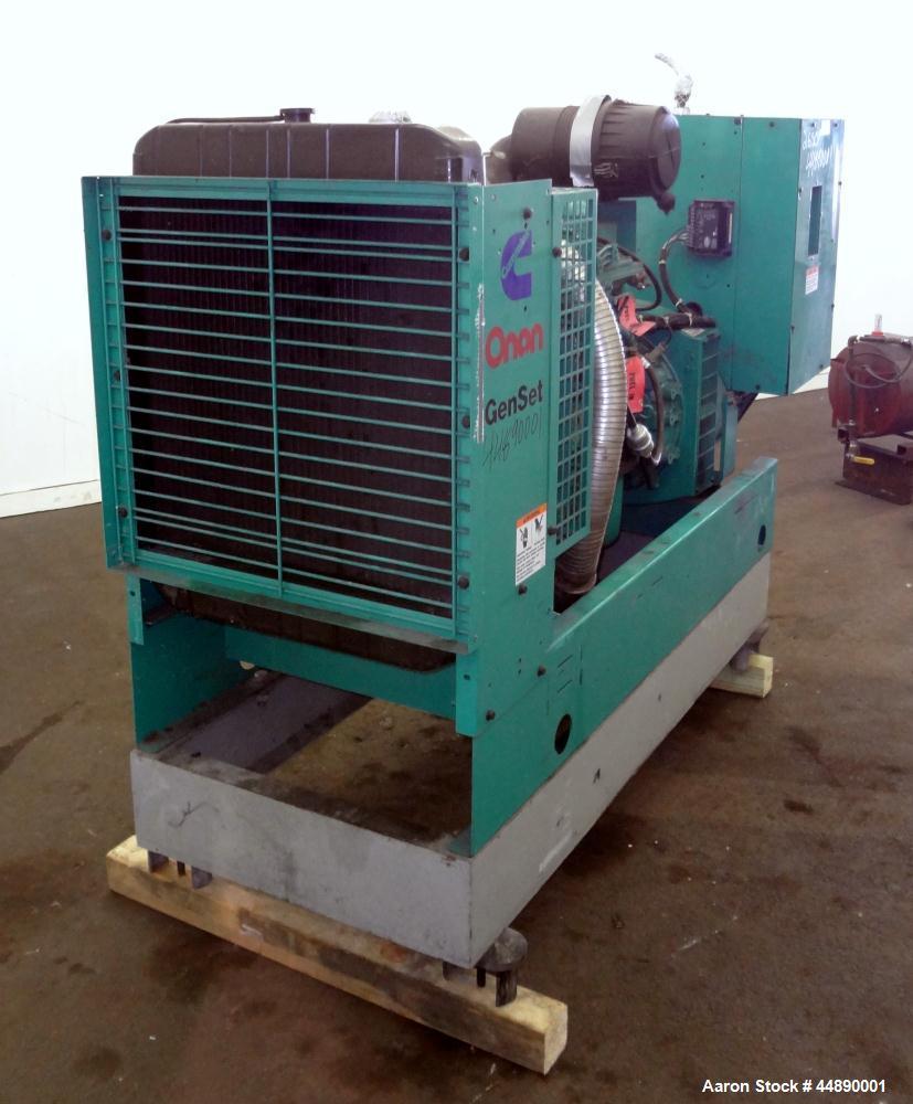 Used-Cummins 100 kW standby (90 kW prime)diesel generator set, model DGDB-4482030 SN-E000108643. Cummins 6TB5.9-G6 engine ra...