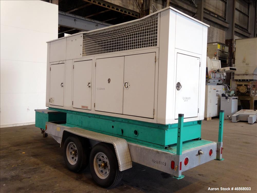 Used- Cummins Onan 125 kW trailered diesel generator model DGEA. Cummins 6CT8.3-