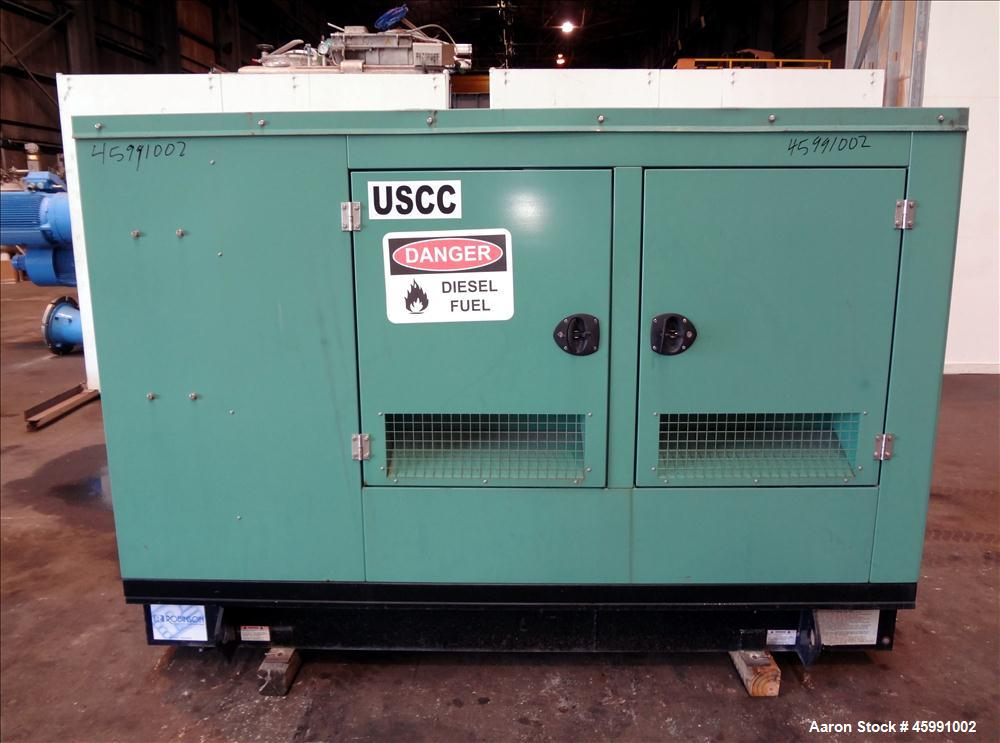 Used- Cummins 35 kW diesel generator model DGGD. Cummins 4B3.3-G1 engine.