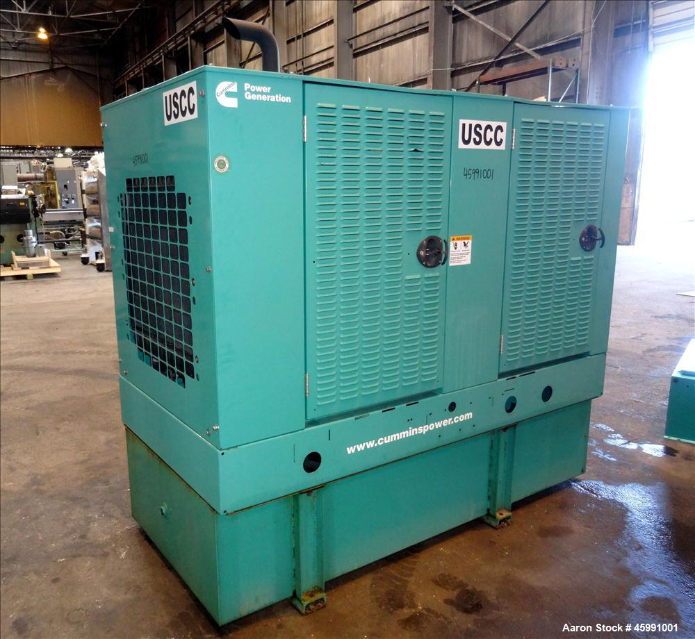 Used- Cummins 35 kW standby (30 kW prime) diesel generator set, model DGGD-5937011, SN-J070118848. Cummins 4B3.3-G1 engine r...