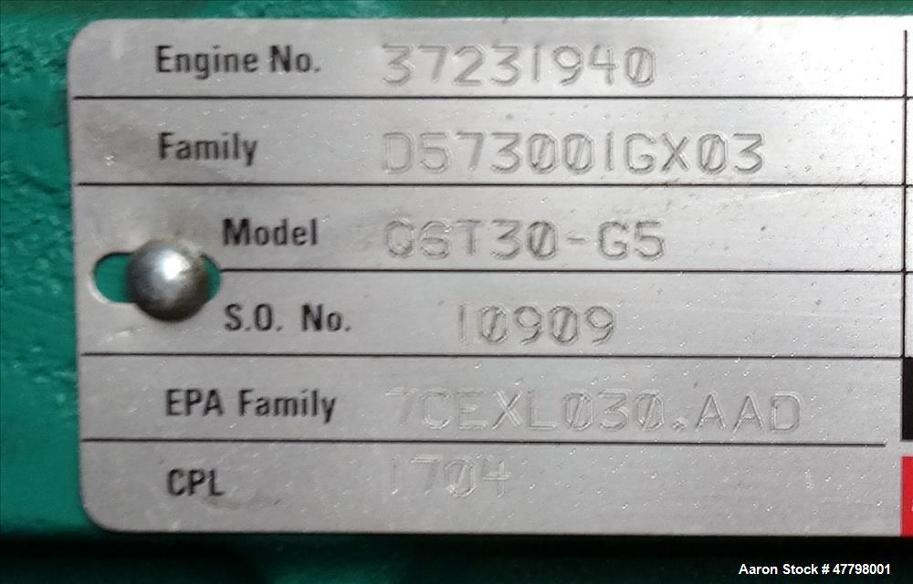Used-Cummins 750kW standby diesel generator DQFAA. Cummins EPA Tier 2