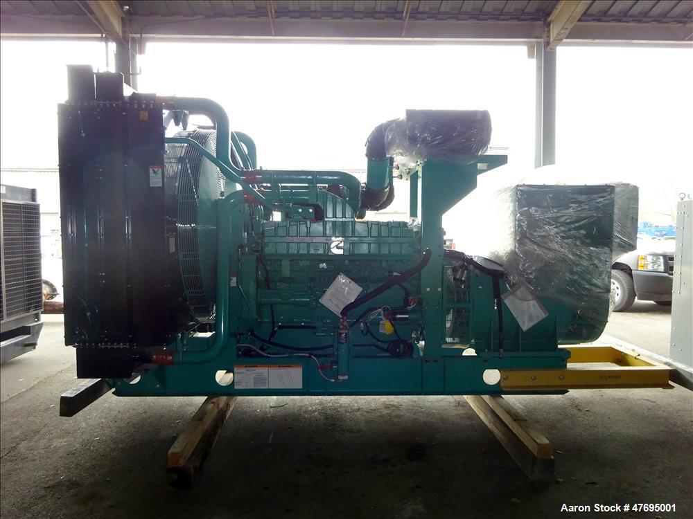 UNUSED Cummins 1000 kW generator model DQFAD. Cummins QST30-G5 engine EPA Tier 2