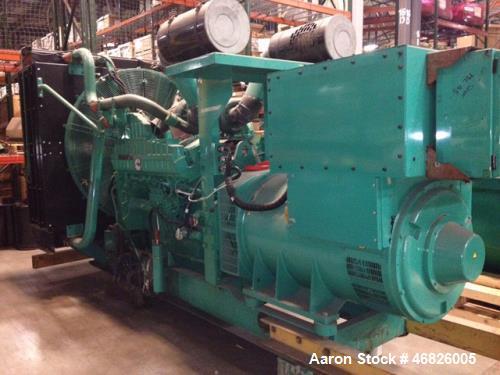 Used-Cummins 1000 kW diesel generator DQFAD. Cummins QST30-G5 NR2 EPA Tier 2