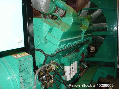 Used-Cummins 2000 kW standby (1825kW prime) diesel generator set.Cummins DQKC-4487223 SN-K000169179.Cummins QSK60-G6 engine ...
