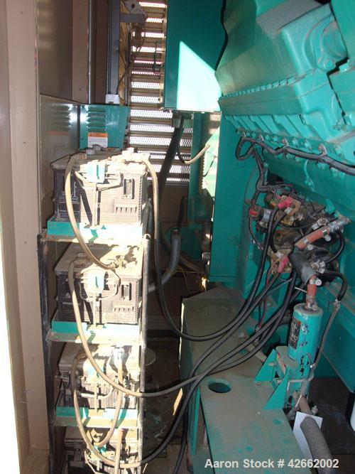 Used- Cummins 2000 kW standby (1825kW prime) diesel generator set. Cummins model DQKC - 5587569, SN-B030464768. Cummins QSK6...