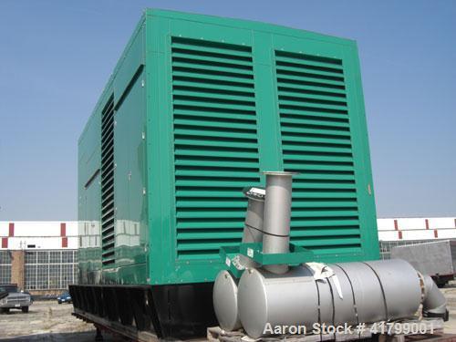 Unused-New Cummins DQKH 2250 kW diesel generator set. Cummins QSK-60-G9 engine 3251 HP @ 1800 RPM, Emmissions-EPA, Tier 1, N...