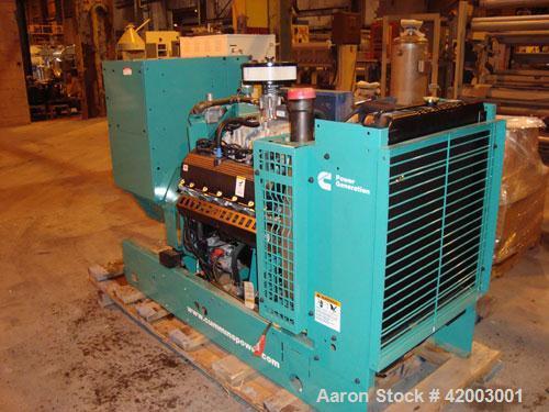 Unused- Cummins 70 kW Standby Rated Natural Gas Generator Set. Cummins model GGHF, SN-L060999120. Ford model WSG1068, SN-06Q...