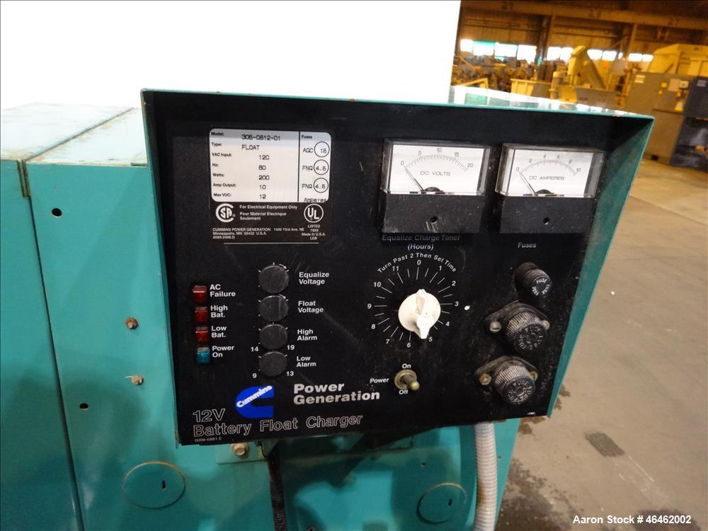 Used- Cummins 100 kW standby natural gas generator set, model GGHH
