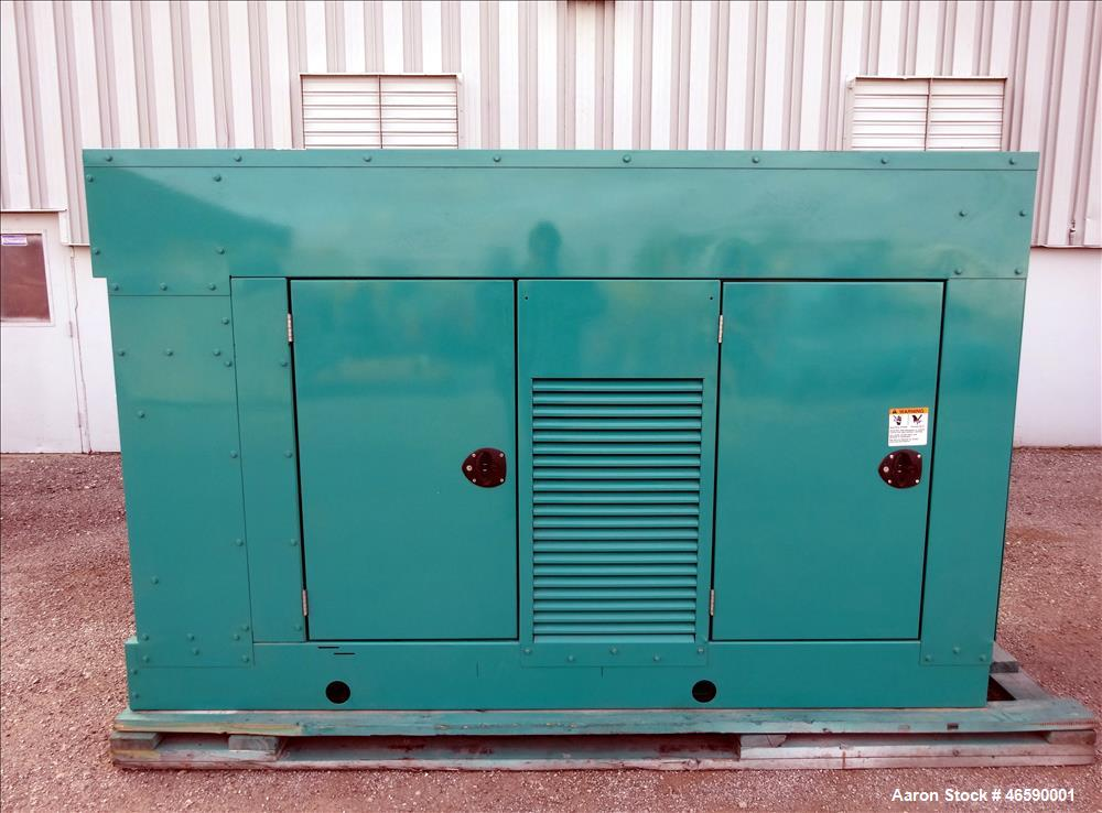 Used- Cummins 100 kW natural gas generator set model GGHH-5776259, SN-I060976839. Ford WSG-1068 engine rated 176 HP at 1800 ...