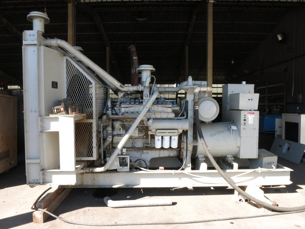 Used- Cummins 300 kW Standby Natural Gas Generator Set, Model GTA-1710.