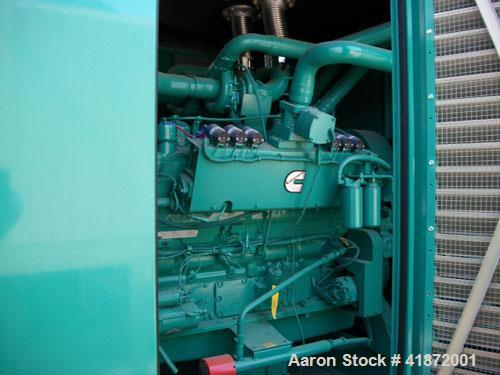 New- Cummins 500 kW Natural Gas Generator Set. Cummins model GTA28 natural gas engine, 10:1 compression ratio, rated 770 hp ...