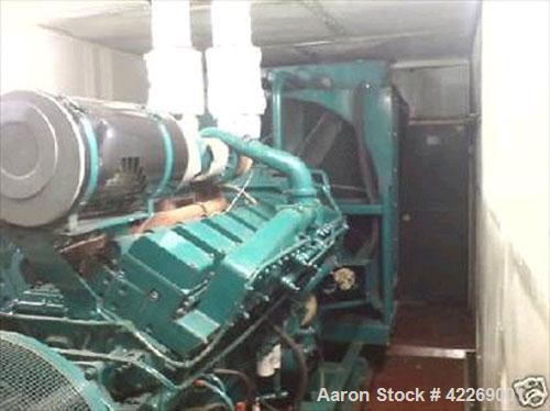Used-Cummins Diesel Engine KTA 50 G3.  1.25 mw diesel generator, serial #33127342. Leroy Somer alternator, serial #162186-1....