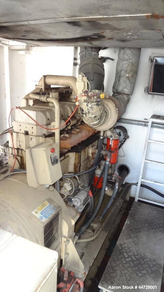 Used- Cummins 500 kW diesel generator set, Cummins KT19-G4 engine rated 755 HP @ 1800 RPM, SN-37189481. 3/60/277/480V. 1250 ...