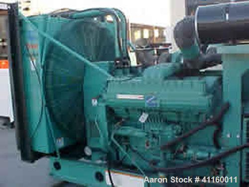 Unused-Used Cummins / Onan 750 kW Diesel Generator Set. Cummins QST30G1 engine. Onan model DFHA 3/60/277/480V, 1800 rpm, 0.8...