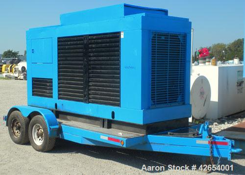 Used- Cummins 200kW portable standby diesel generator set.Cummins model NT-855-G4 engine rated 375HP @ 1800 RPM. 3/60/208-24...