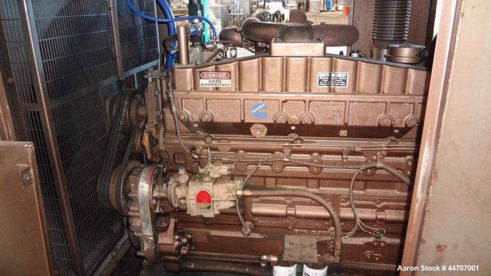 Used- Cummins 350 kW standby diesel generator set, Cummins NTTA855G2 engine rated 535 HP @ 1800 RPM, SN-18109439. 3/60/277/4...