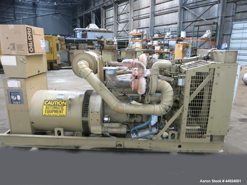 Used- Cummins 350 KW Standby Diesel Generator Set.  Cummins NTTA855GS2 engine rated 535 hp @ 1800 rpm, serial #30300327.  3/...